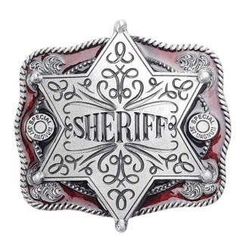 Gürtelschnalle Sheriffstern