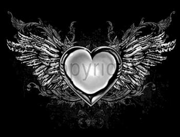 T-Shirt Herz mit Flügeln