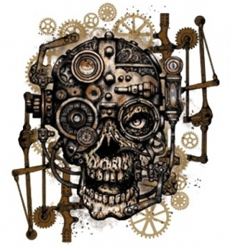 T-Shirt Geared Skull