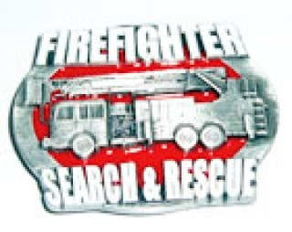 Gürtelschnalle Firefighter Search & Rescue