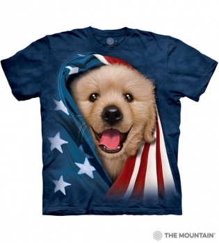 T-Shirt Hund mit Flagge von The Mountain®