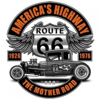 T-Shirt Route 66 Hot Rod