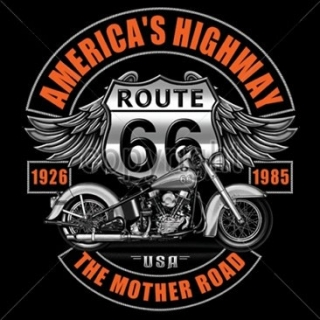 T-Shirt Route 66 Bike