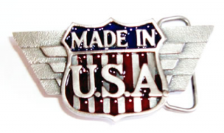 Gürtelschnalle Made in U.S.A.